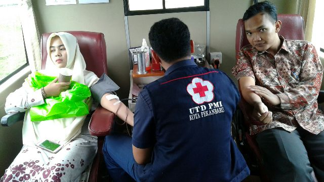 KSR PMI Adakan Program Rutin Donor Darah