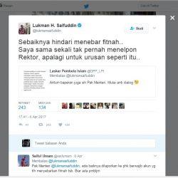 Menag Bantah Menelpon, Rektor : Pak Mentri Hanya 'WA'