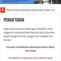 Kurang Bangunan, Mahasantriwati Ma'had Al- Jami'ah UIN Suska Riau Membludak