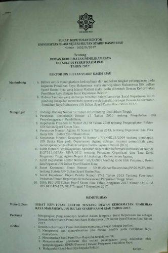 Legalitas DKP Dibentuk Oleh Rektor