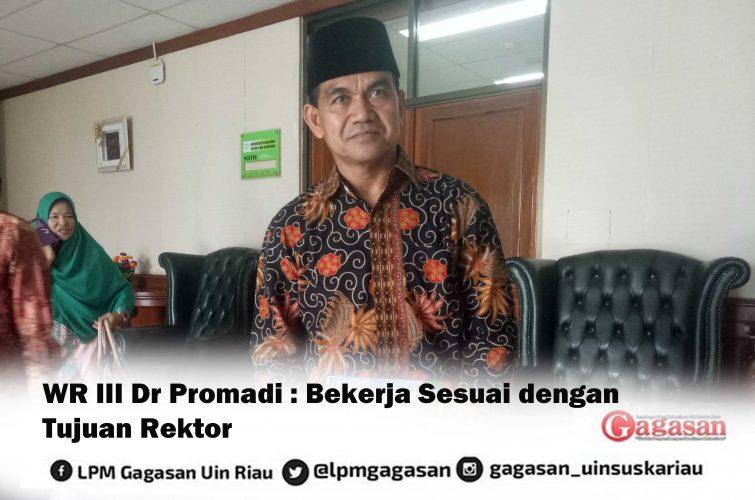 """Ralat Berita """"WR III Dr Pormadi : Bekerja Sesuai dengan Tujuan Rektor"""""""