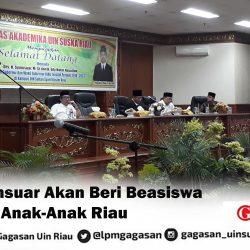 Syamsuar Akan Beri Beasiswa Bagi Anak-Anak Riau