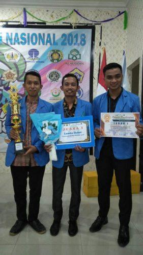 Terbang ke Makassar, Formadiksi UIN Suska Juarai Debat Nasional