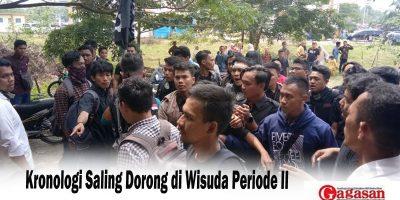 Kronologi Saling Dorong di Wisuda Periode II