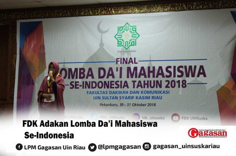 FDK Adakan Lomba Da'i Mahasiswa Se-Indonesia