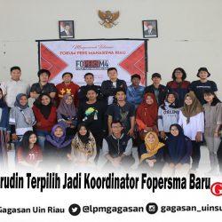 Badru Chaerudin Terpilih Jadi Koordinator Fopersma Baru