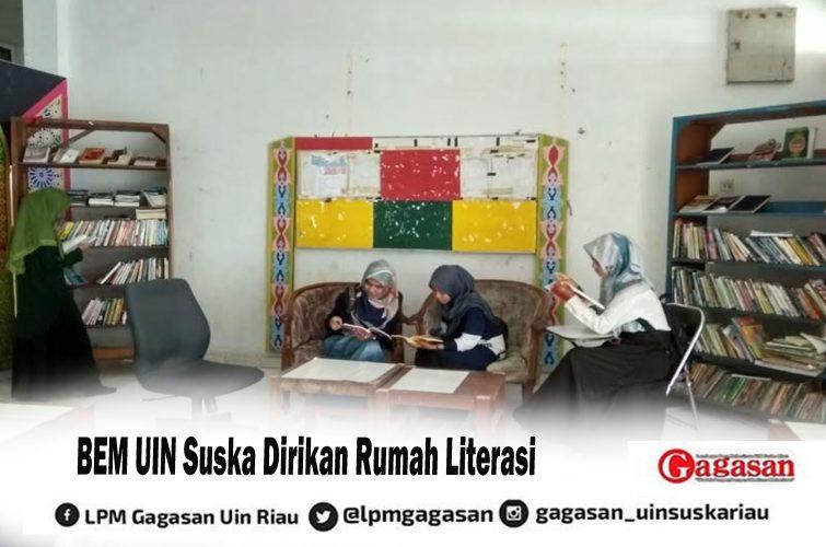 BEM UIN Suska Dirikan Rumah Literasi