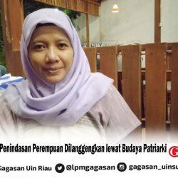 Nur Syamsiyah: Penindasan Perempuan Dilanggengkan lewat Budaya Patriarki