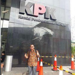 Datang ke KPK Jakarta, Kusnadi Lakukan Pengaduan