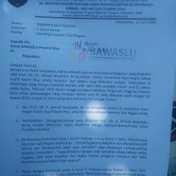 Rektor UIN Suska Riau Dilaporkan LSM ke Bawaslu