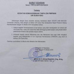 Nasir : Surat Edaran Rektor Bertujuan Jaga Stabilitas Kampus