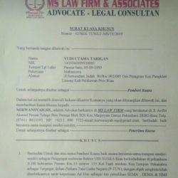 Yudi : Proses Pelaporan SK Ad Hoc ke PTUN Baru Tahap Penyiapan Berkas