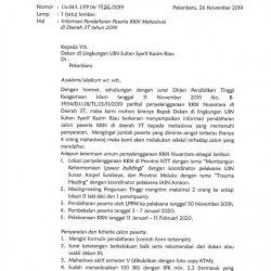 Mahasiswa UIN Suska Akan Ikuti KKN Nusantara