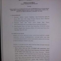 SEMA-U Tolak Putusan Rektor dengan Keluarkan Pernyataan Sikap