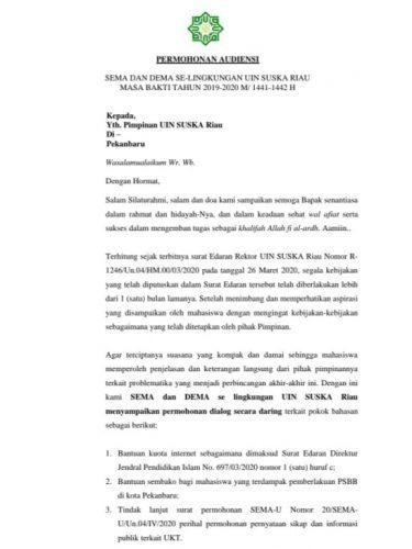 Tak Mendapat Respon, Mahasiswa Tuntut Aktifkan Kegiatan Ormawa