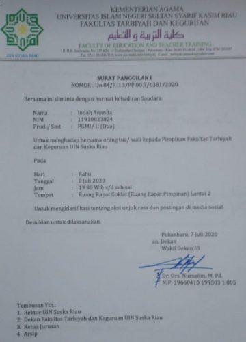 Mahasiswa Dipanggil Pimpinan Fakultas Gara-Gara Aksi Potongan UKT