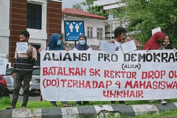 Aldem Ternate Tuntut Rektor Unkhair Cabut Putusan DO Mahasiswanya