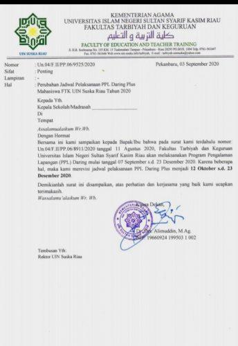 Mahasiswa Kecewa Pelaksanaan PPL Daring FTK Diundur