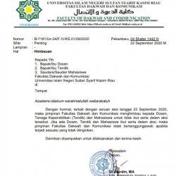 Dekan Himbau Mahasiswa, Dosen dan Tendik FDK Agar Tak Ikut Aksi