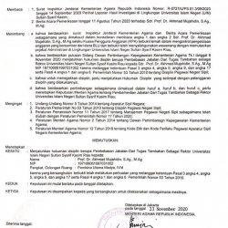 Beredar Surat Putusan Pembebasan Jabatan Rektor UIN Suska Riau