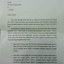 SEMA FSH: Pemilihan SEMA-DEMA Tidak Menyalahi Aturan SK Dirjen Pendis