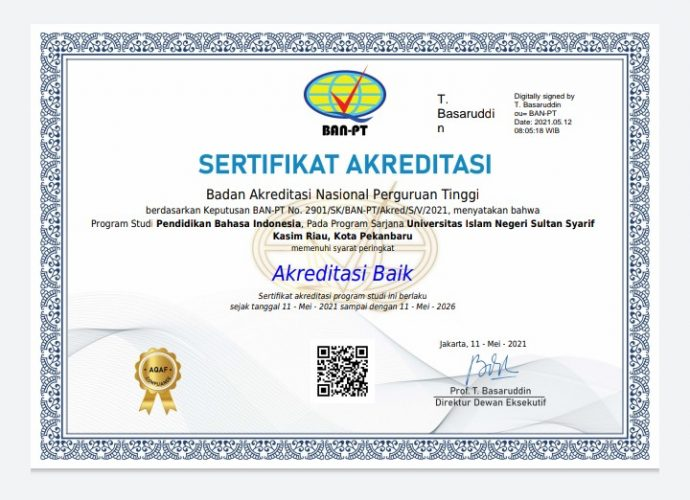Jurusan Pendidikan Bahasa Indonesia Sudah Terakreditasi B