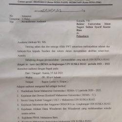 Tanggapi Delapan Permasalahan Kampus, Dema Fakultas Se-Lingkungan UIN Suska Minta Rektorat Buka Audiensi
