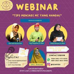 Zevky EO Taja Webinar Tips Menjadi MC Handal